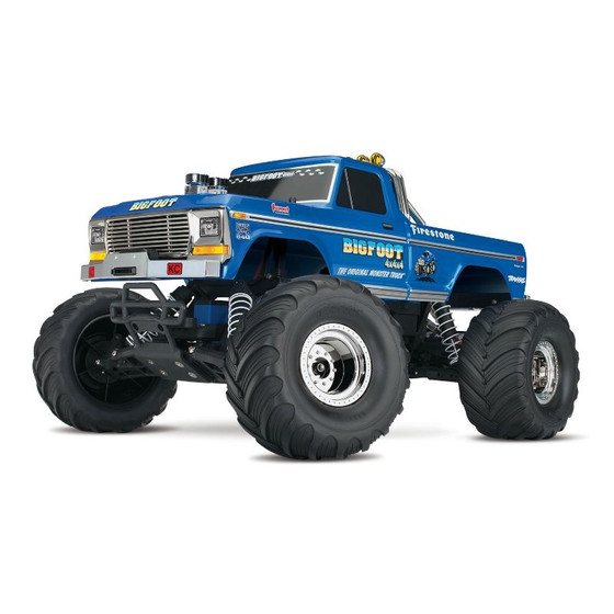 TRAXXAS BIGFOOT No.1  RTR +12V-Lader blau