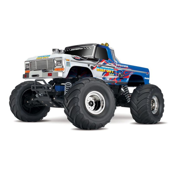 TRAXXAS BIGFOOT FLAME  RTR +12V-Lader+Akku