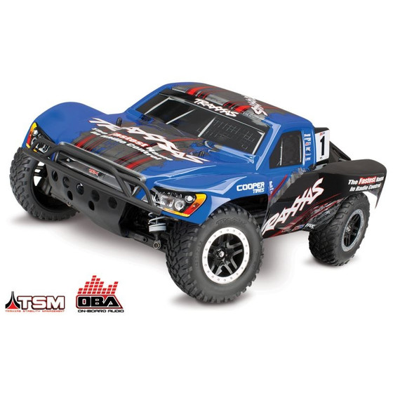 SLVR TRAXXAS Slash 4x4 blau BRUSHLESS +OBA