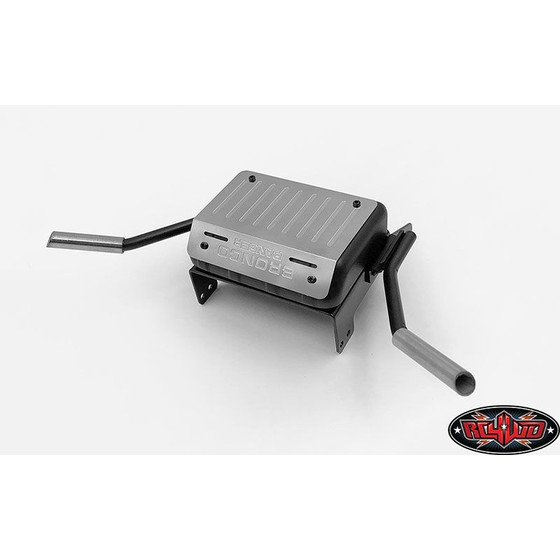 Fuel Tank W/Dual Exhaust for Traxxas TRX-4 79 Bronco Ranger